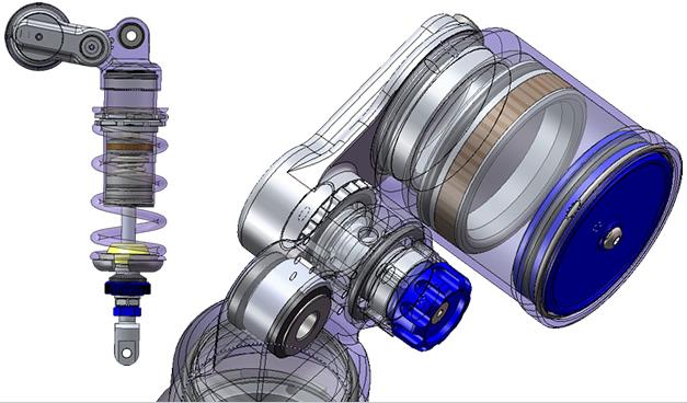 Ammortizzatore posteriore EQF - FG Gubellini